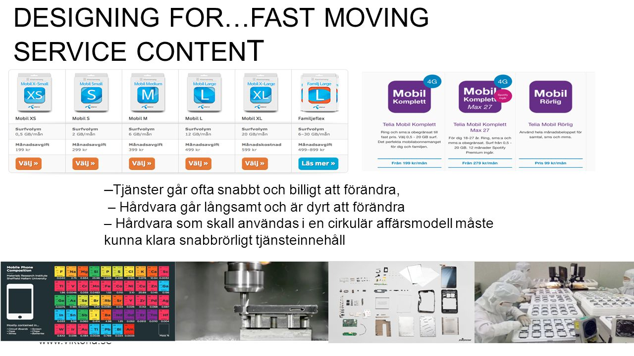 Designing for…Fast moVING SERVICE CONTENT