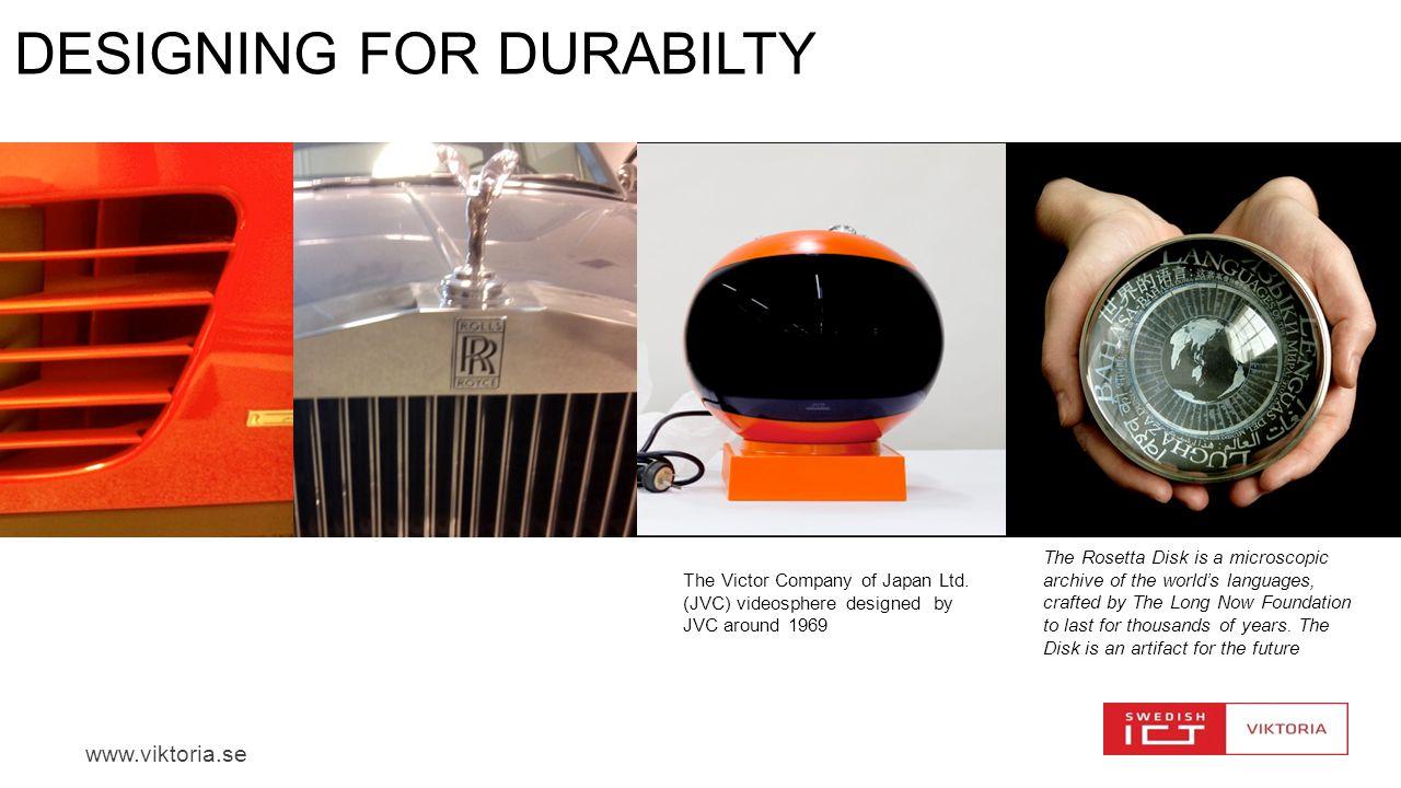 Designing for DURABILTY