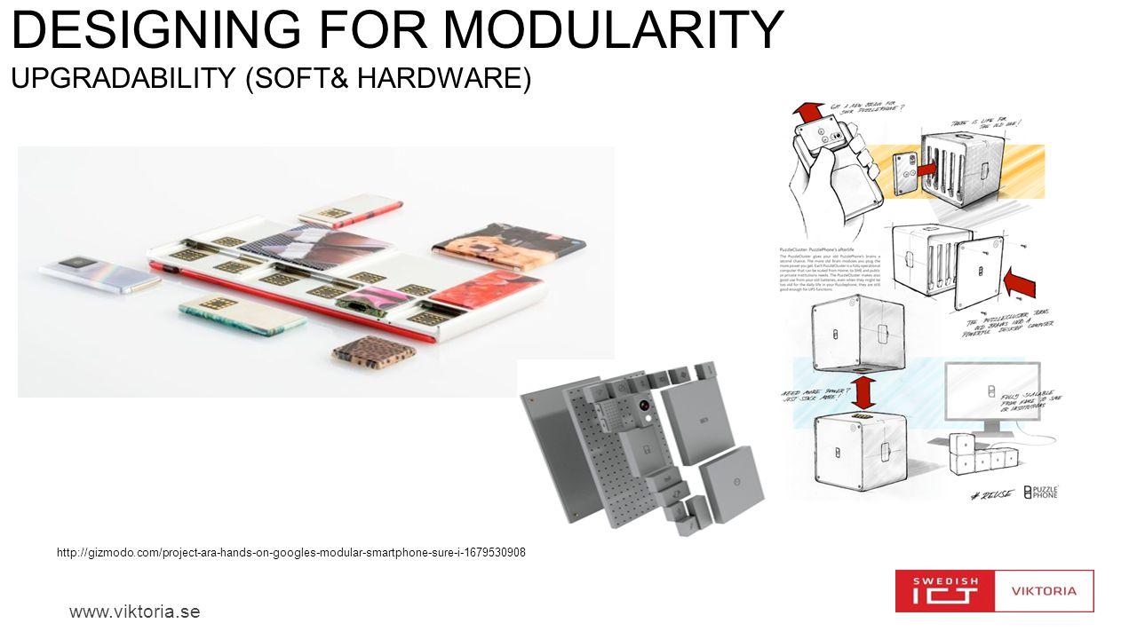 Designing for Modularity Upgradability (soft& hardware)