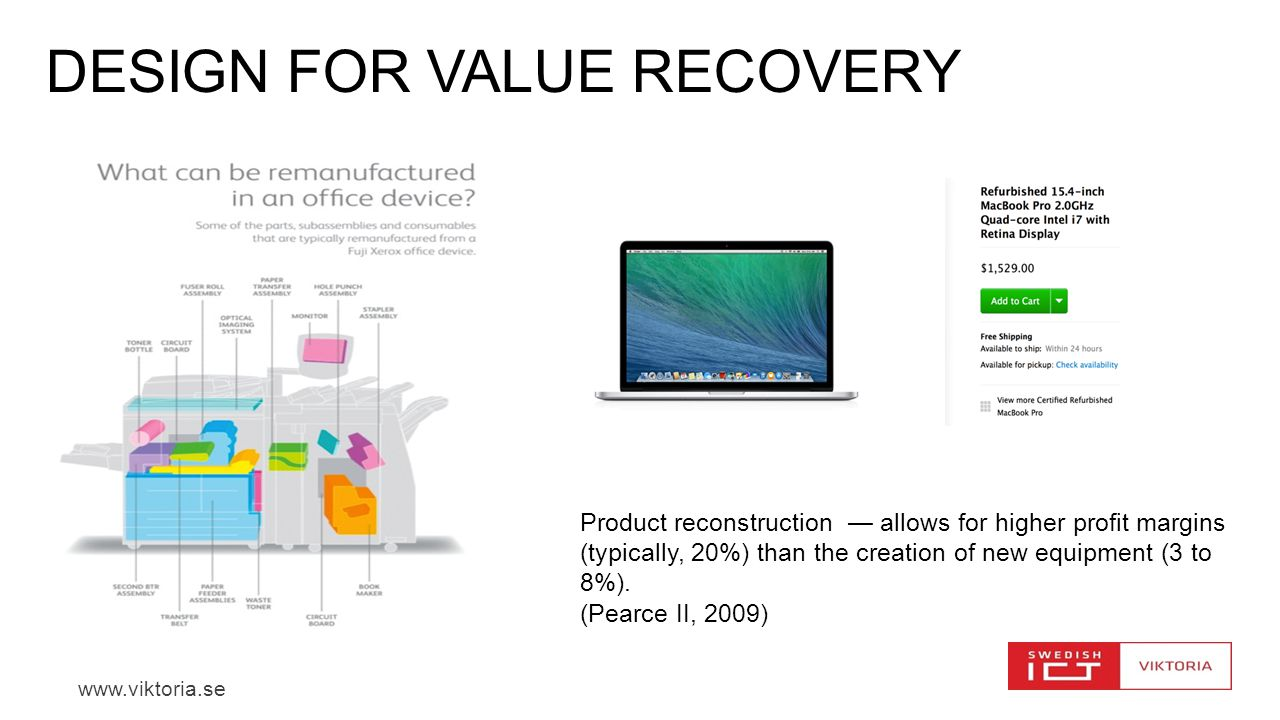 DESIGN FOR VALUE RECOVERY