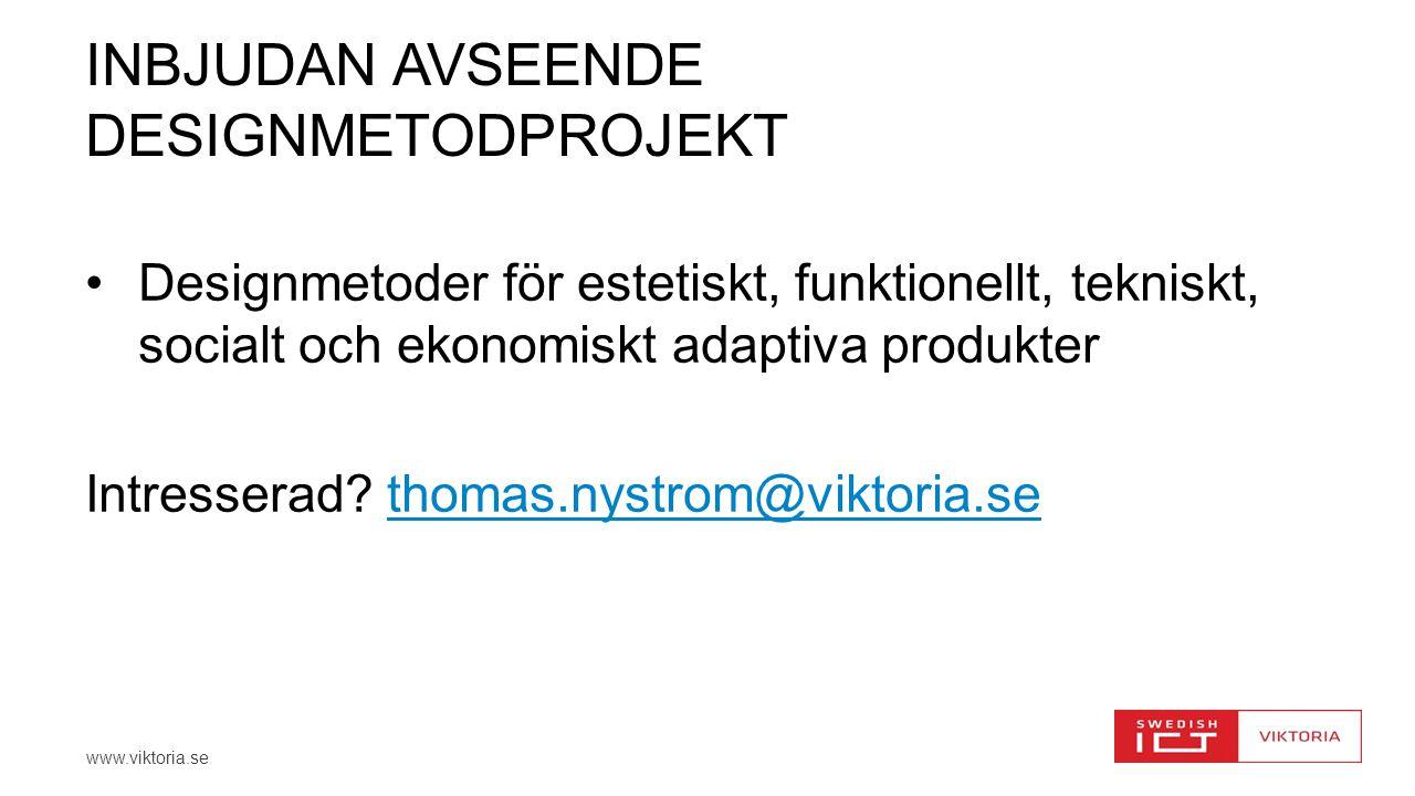 inbjudan avseende designmetodprojekt
