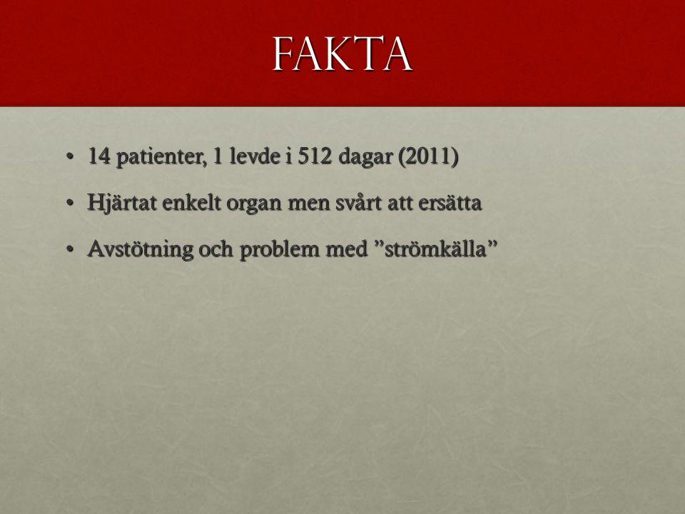 Fakta 14 patienter, 1 levde i 512 dagar (2011)