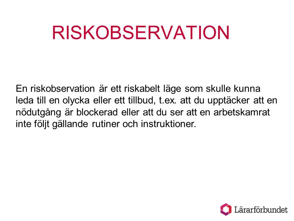 RISKOBSERVATION