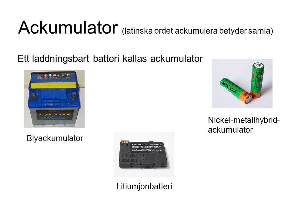 Ackumulator (latinska ordet ackumulera betyder samla)