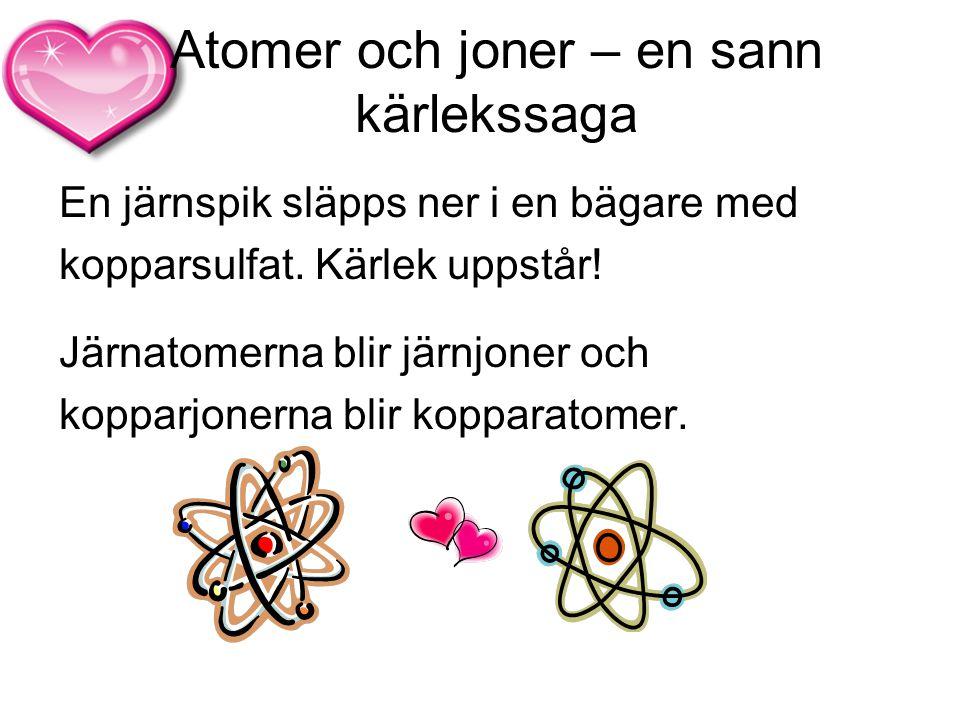 Atomer och joner – en sann kärlekssaga