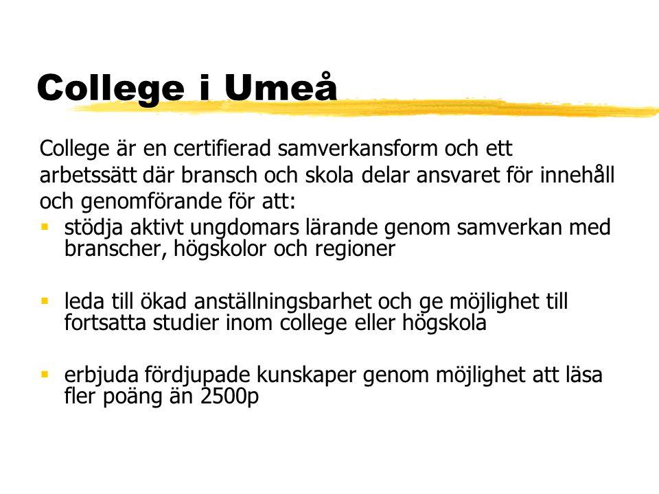College i Umeå College är en certifierad samverkansform och ett