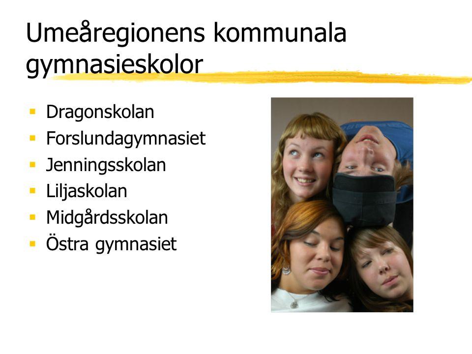 Umeåregionens kommunala gymnasieskolor