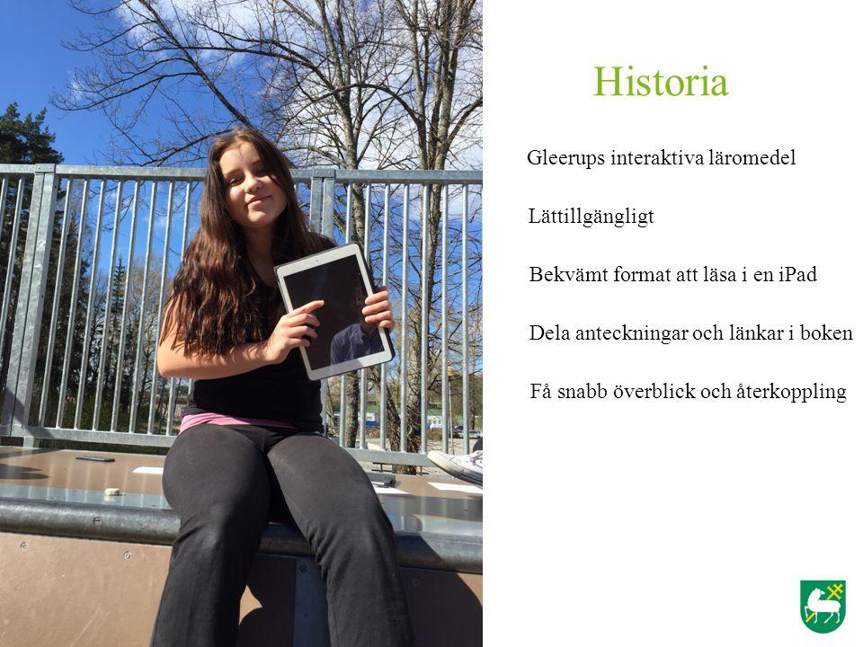 Historia Gleerups interaktiva läromedel Lättillgängligt