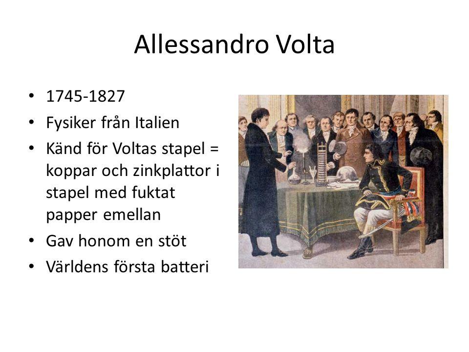 Allessandro Volta 1745-1827 Fysiker från Italien