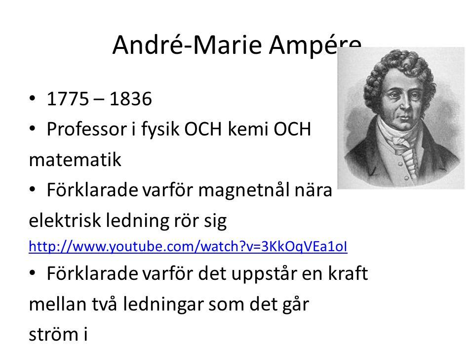 André-Marie Ampére 1775 – 1836 Professor i fysik OCH kemi OCH