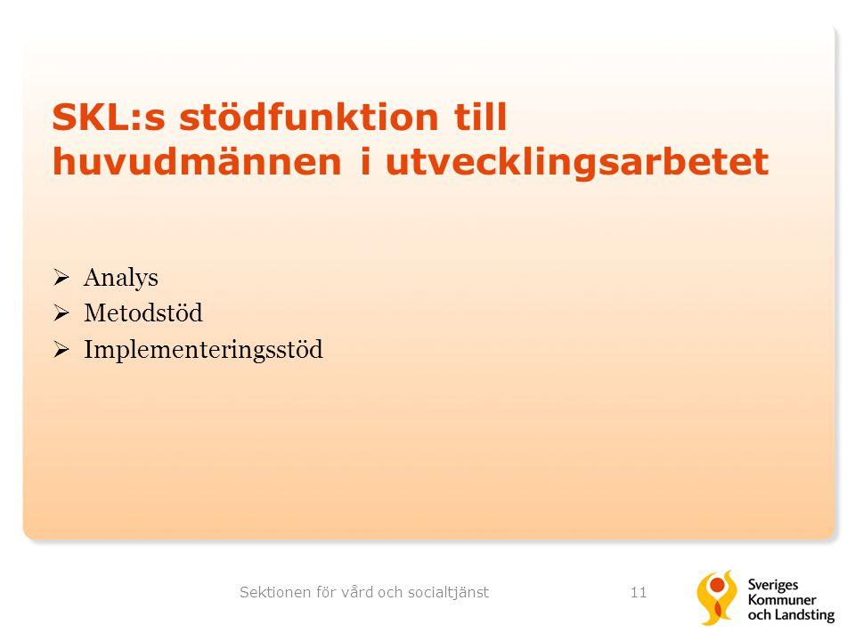 SKL:s stödfunktion till huvudmännen i utvecklingsarbetet
