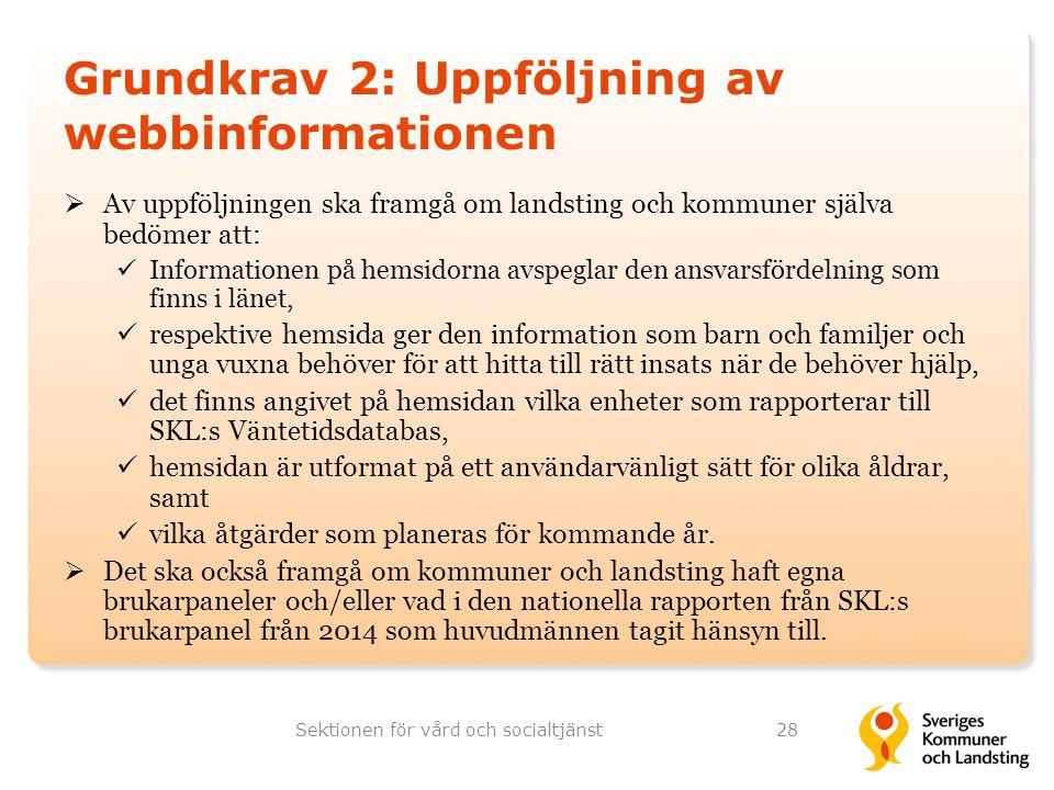 Grundkrav 2: Uppföljning av webbinformationen