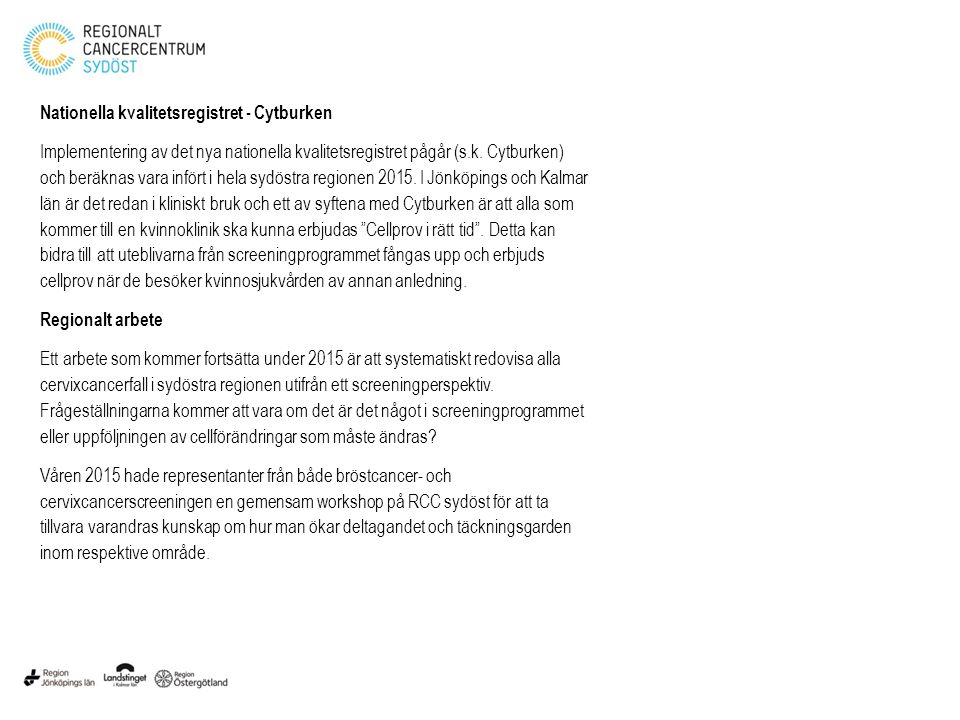 Nationella kvalitetsregistret - Cytburken