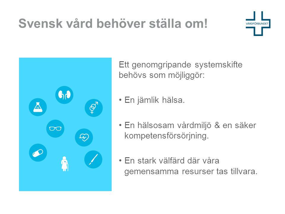 Svensk vård behöver ställa om!