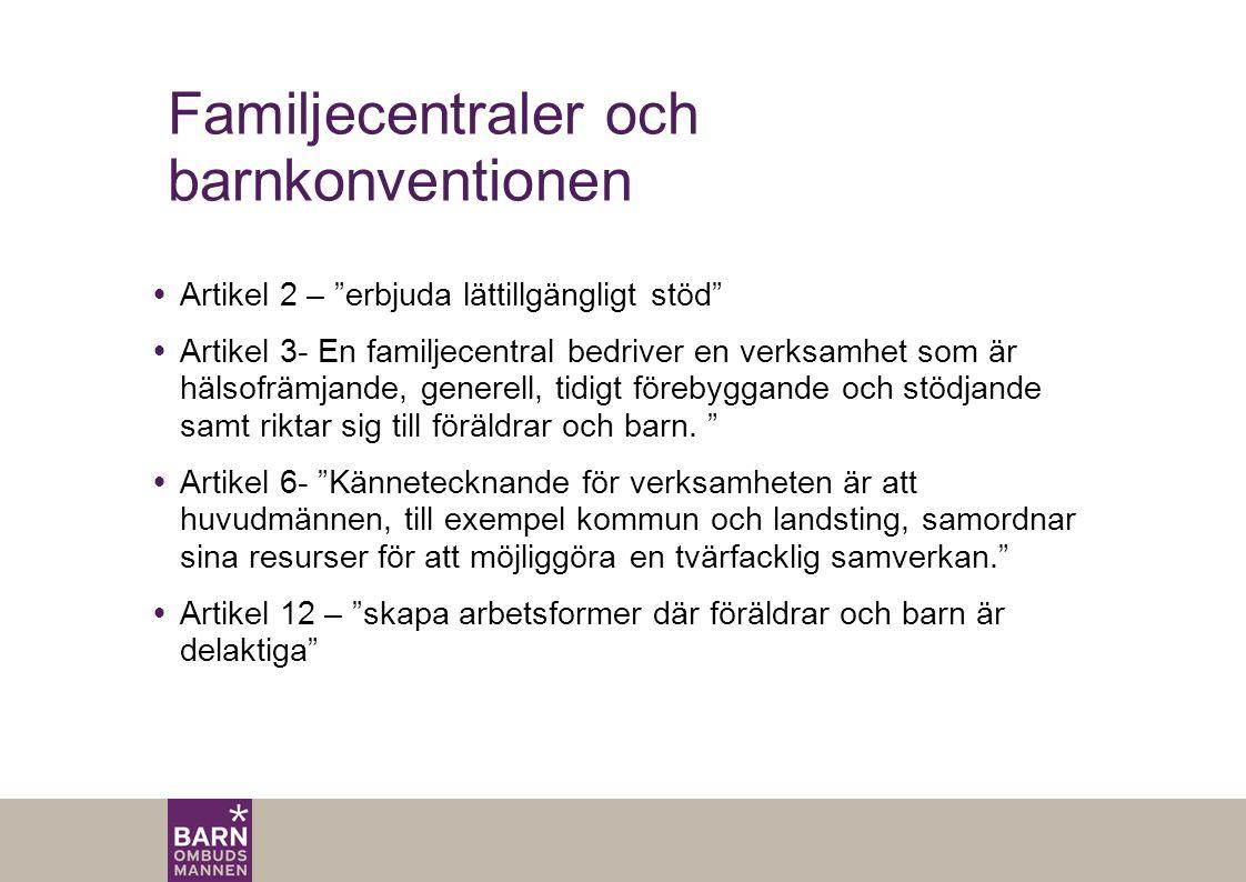 Familjecentraler och barnkonventionen