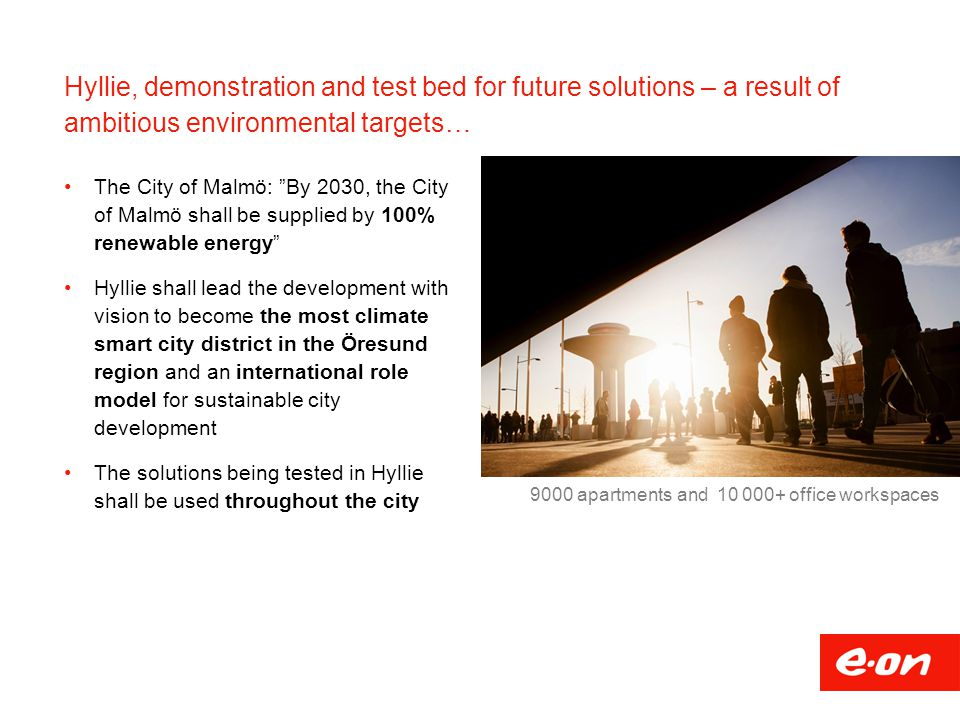 Hyllie, demonstration and test bed for future solutions – a result of ambitious environmental targets…