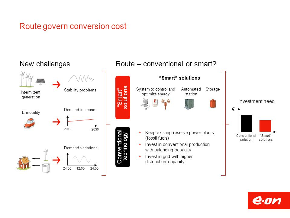 Route govern conversion cost