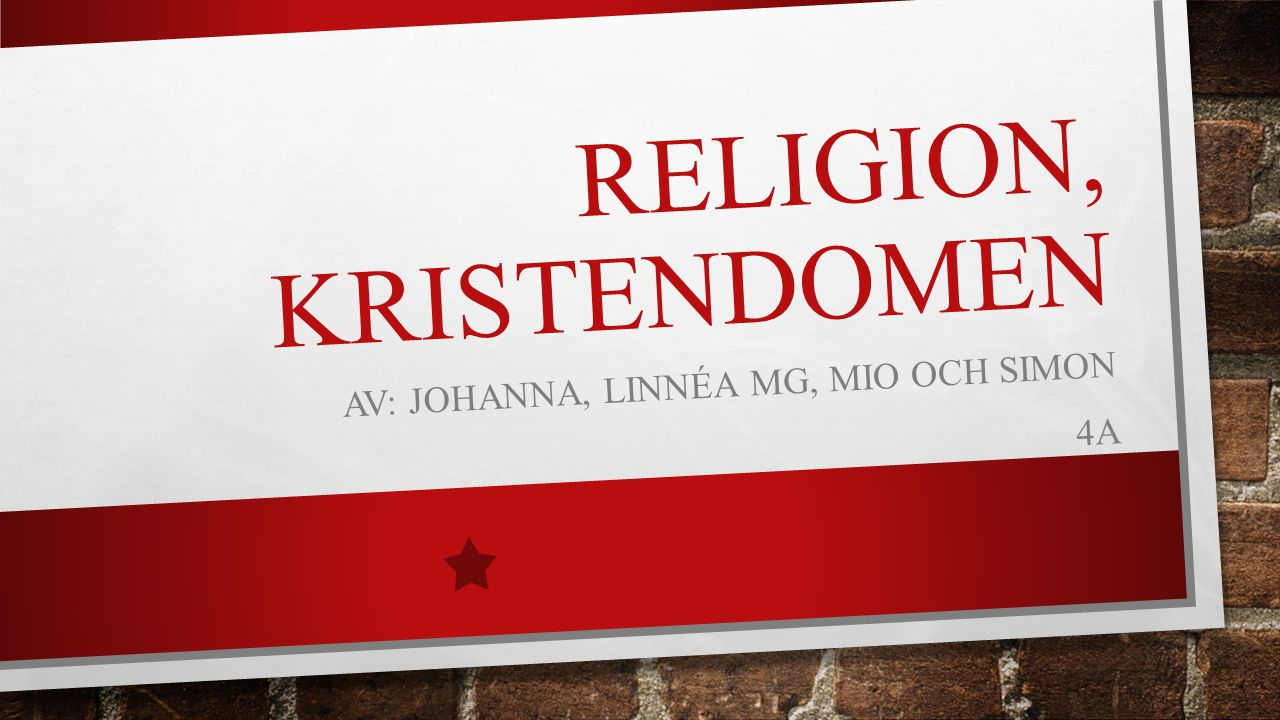 Religion, Kristendomen