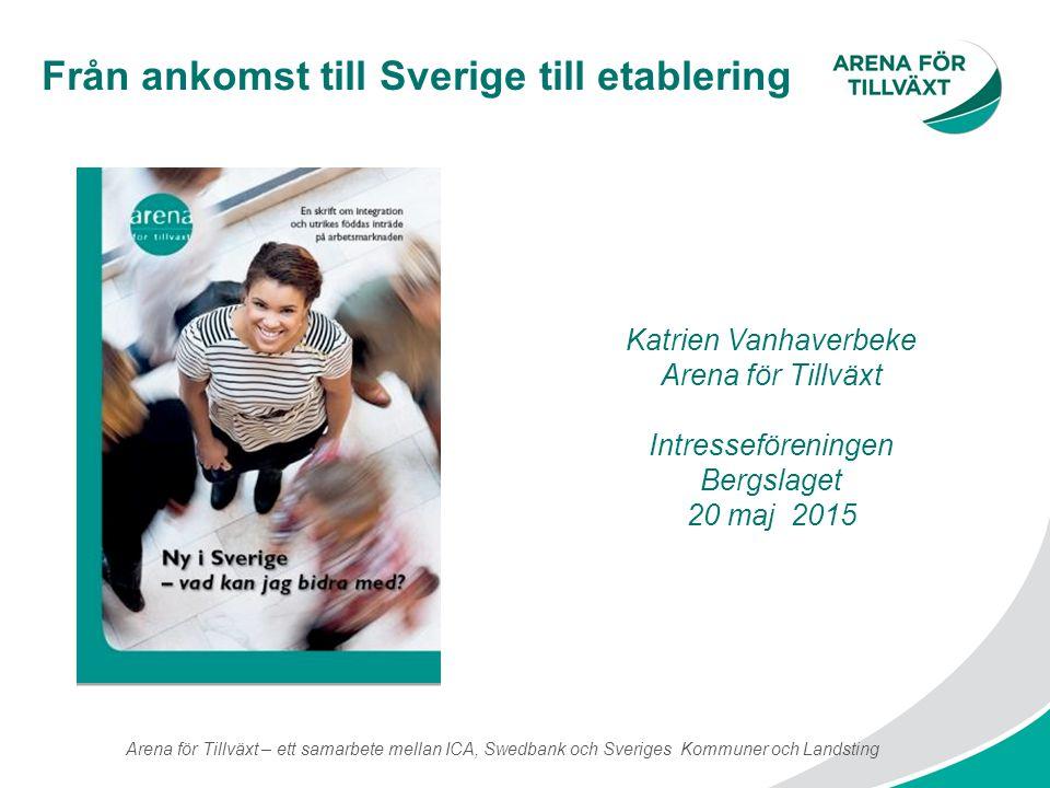Från ankomst till Sverige till etablering