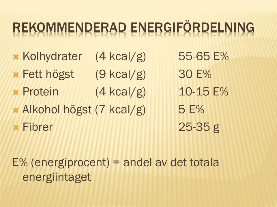 Rekommenderad energifördelning