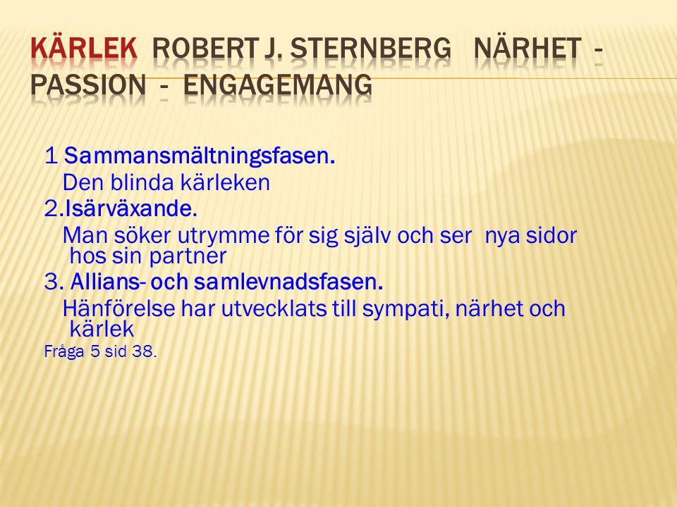 KÄRLEK Robert J. Sternberg Närhet - Passion - Engagemang