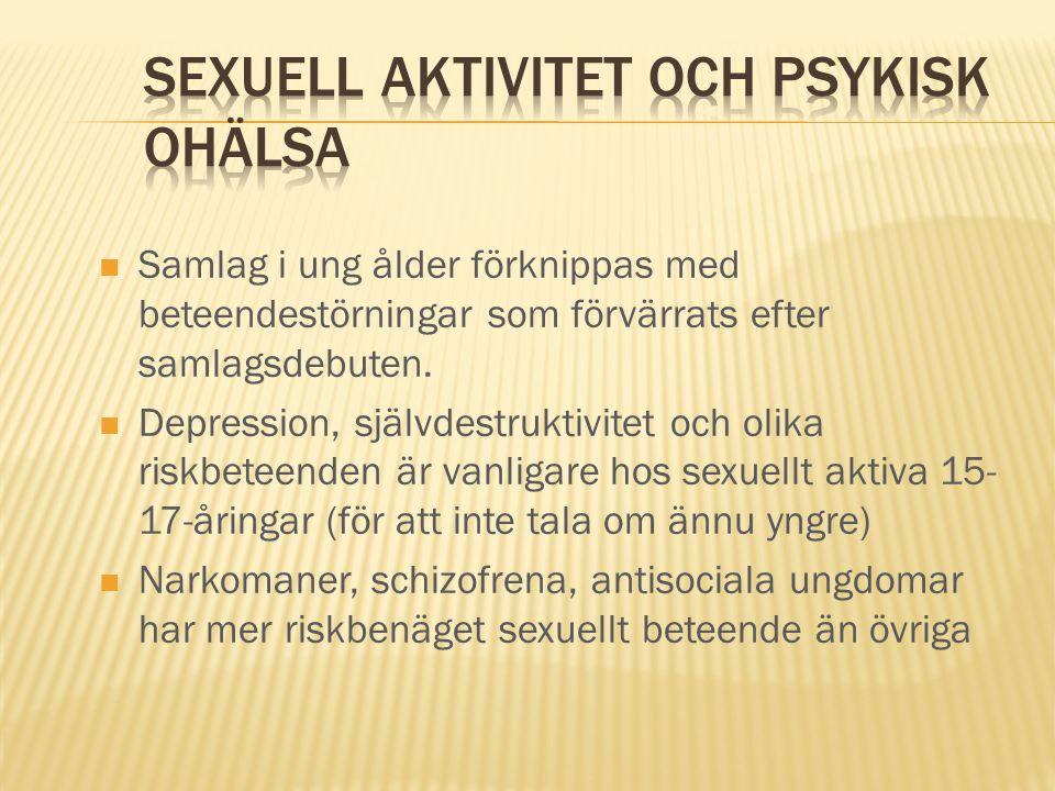 Sexuell aktivitet och psykisk ohälsa