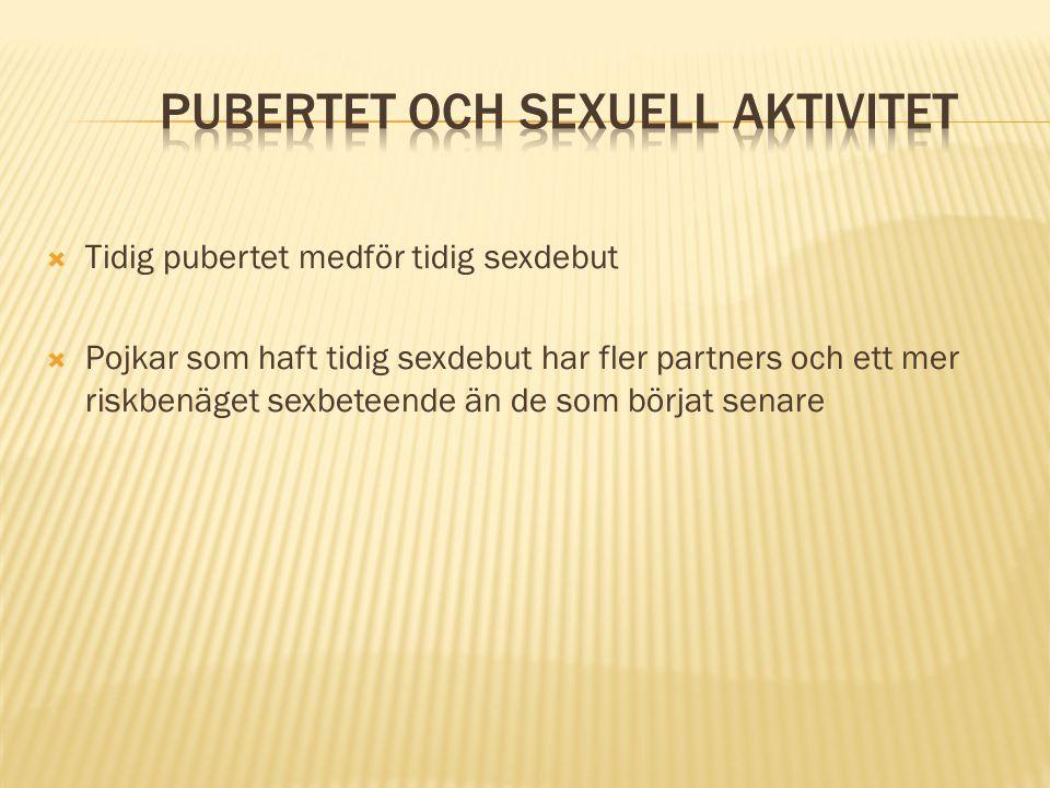 Pubertet och sexuell aktivitet