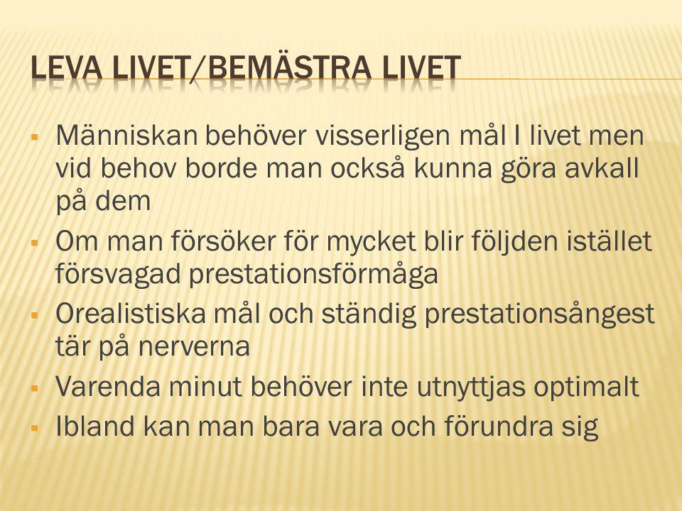 Leva livet/bemästra livet