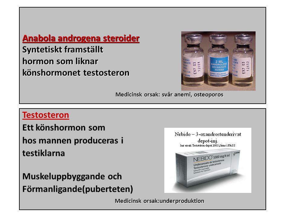 Dopning Anabola androgena steroider Syntetiskt framställt