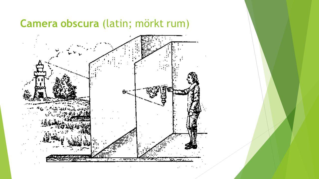 Camera obscura (latin; mörkt rum)