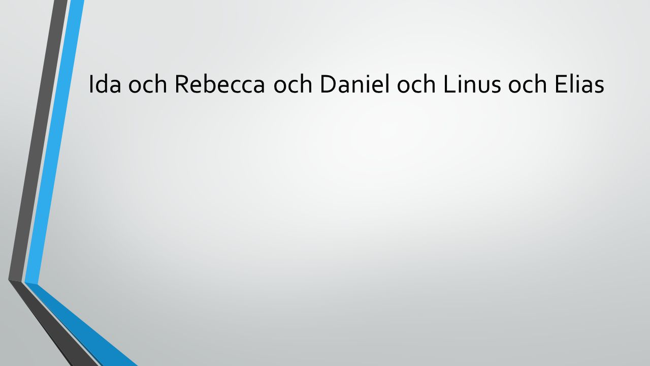 Ida och Rebecca och Daniel och Linus och Elias