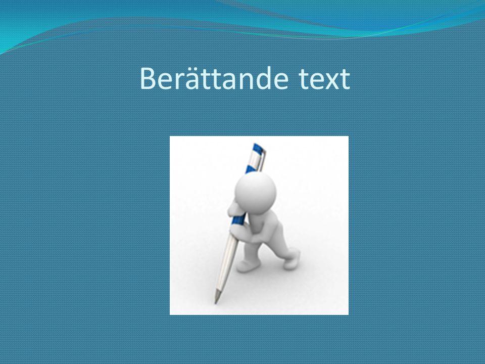 Berättande text