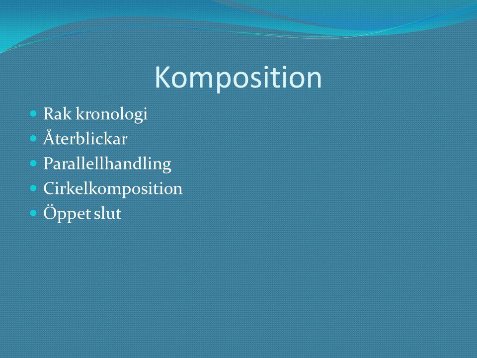 Komposition Rak kronologi Återblickar Parallellhandling