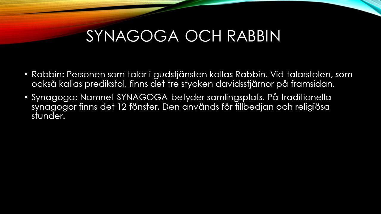 SYNAGOGA OCH RAbbiN