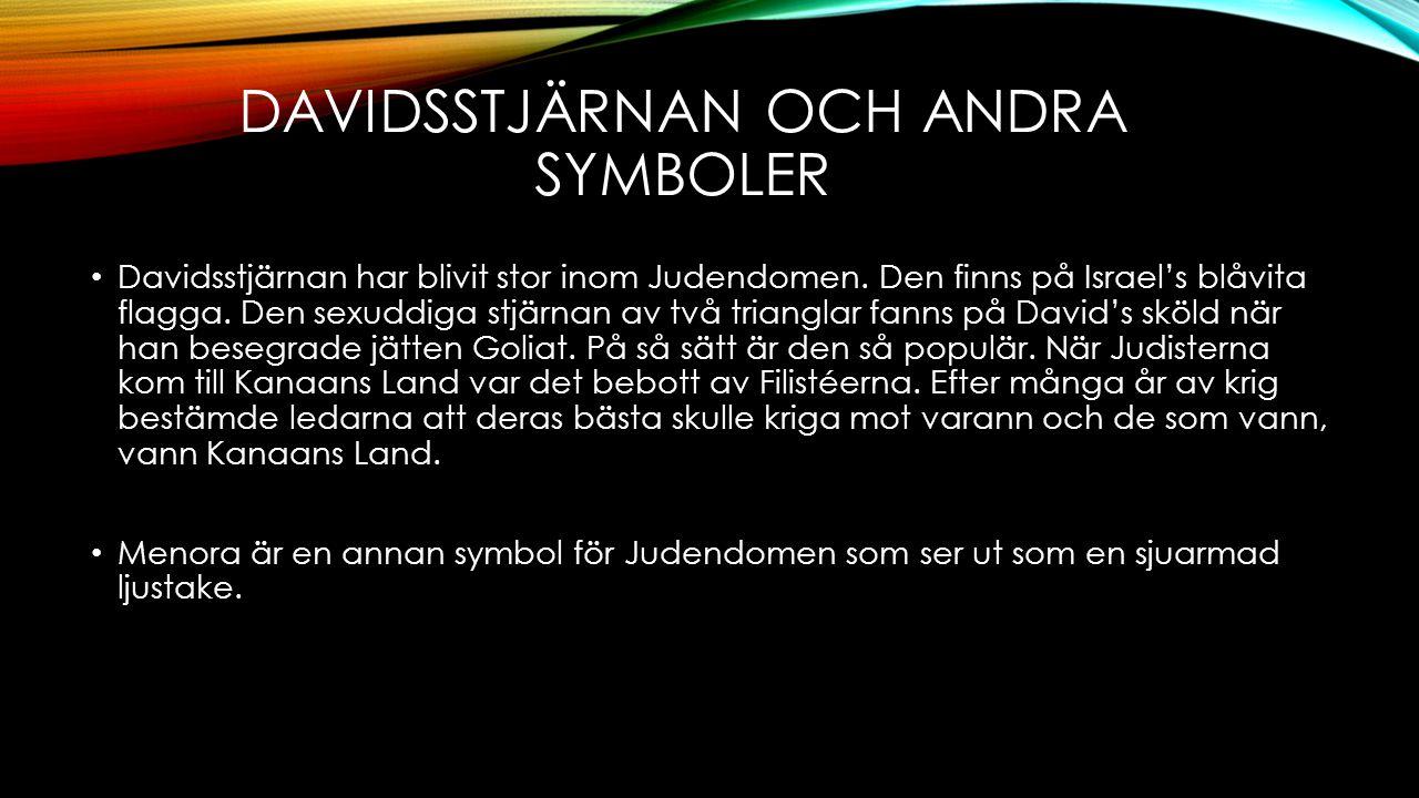 DAVIDSSTJÄRNAN OCH ANDRA SYMBOLER