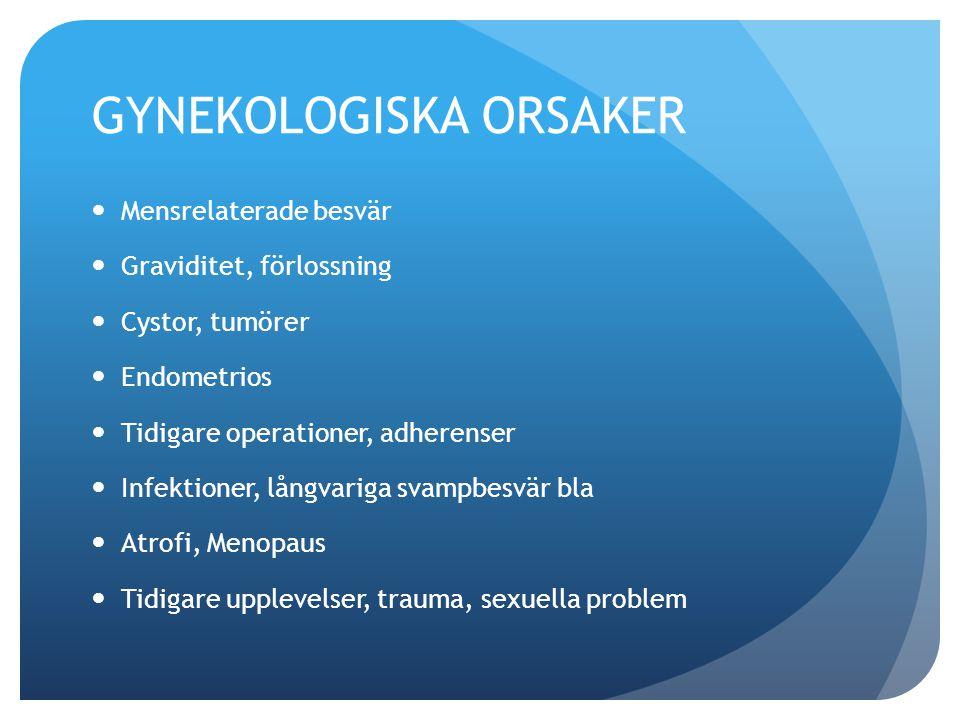 GYNEKOLOGISKA ORSAKER