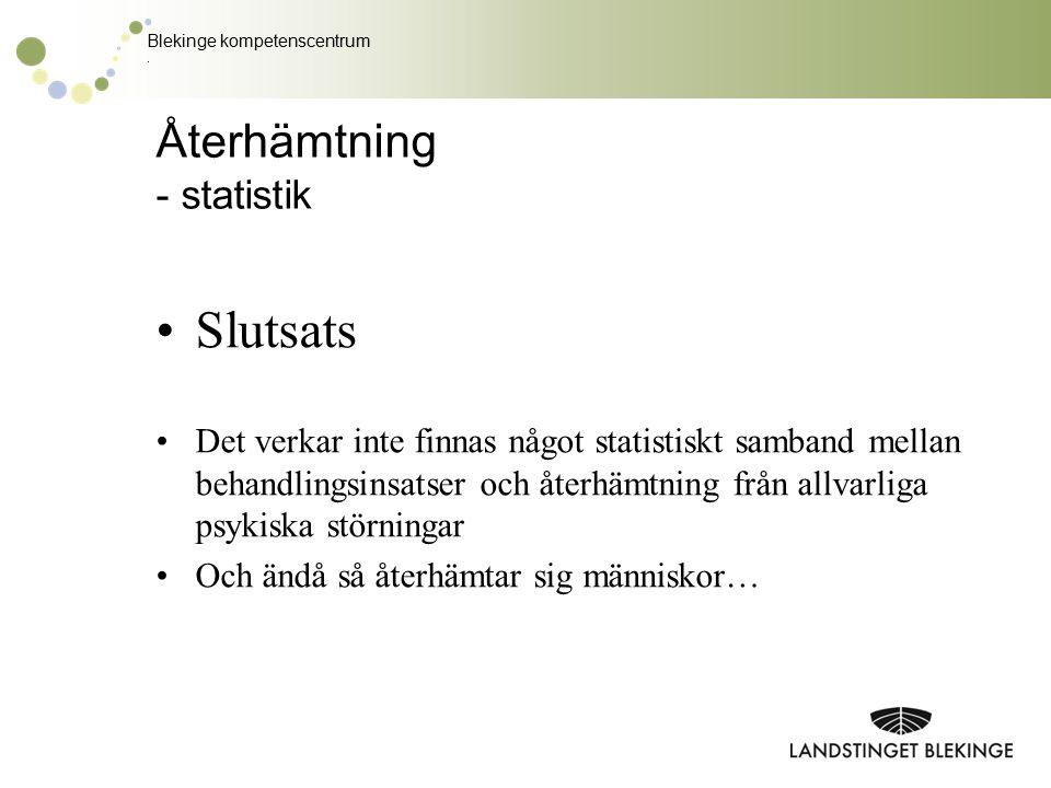 Återhämtning - statistik