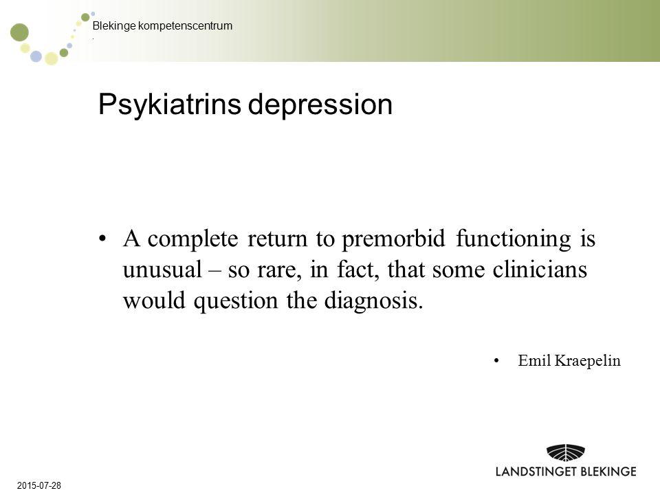 Psykiatrins depression