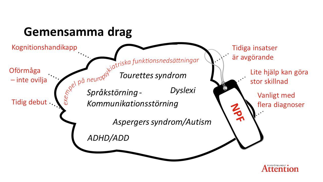 Kommunikationsstörning Aspergers syndrom/Autism ADHD/ADD