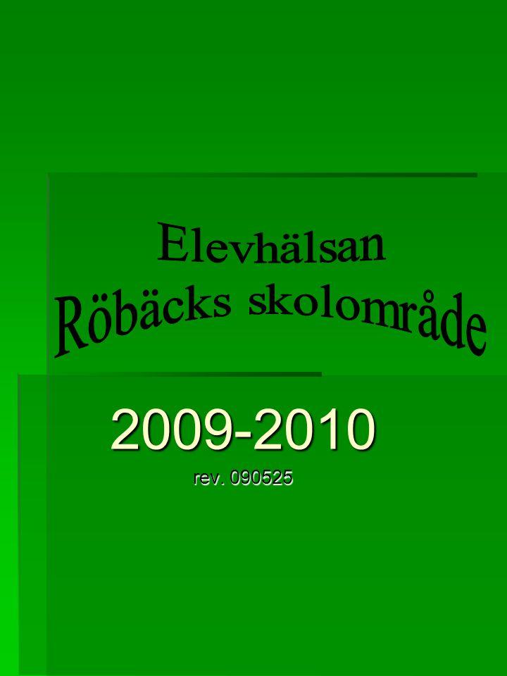 Elevhälsan Röbäcks skolområde 2009-2010 rev. 090525