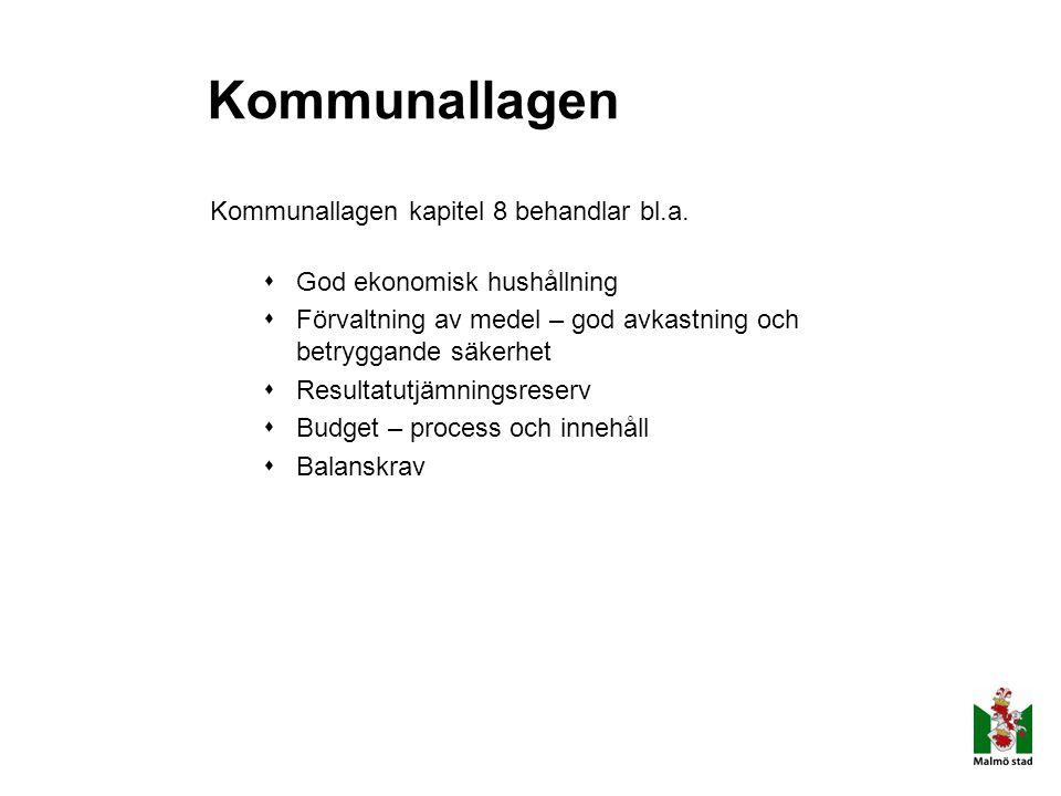 Kommunallagen Kommunallagen kapitel 8 behandlar bl.a.