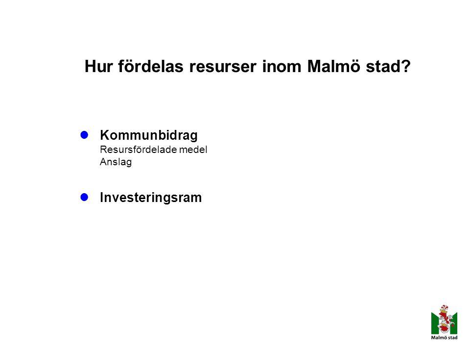 Hur fördelas resurser inom Malmö stad