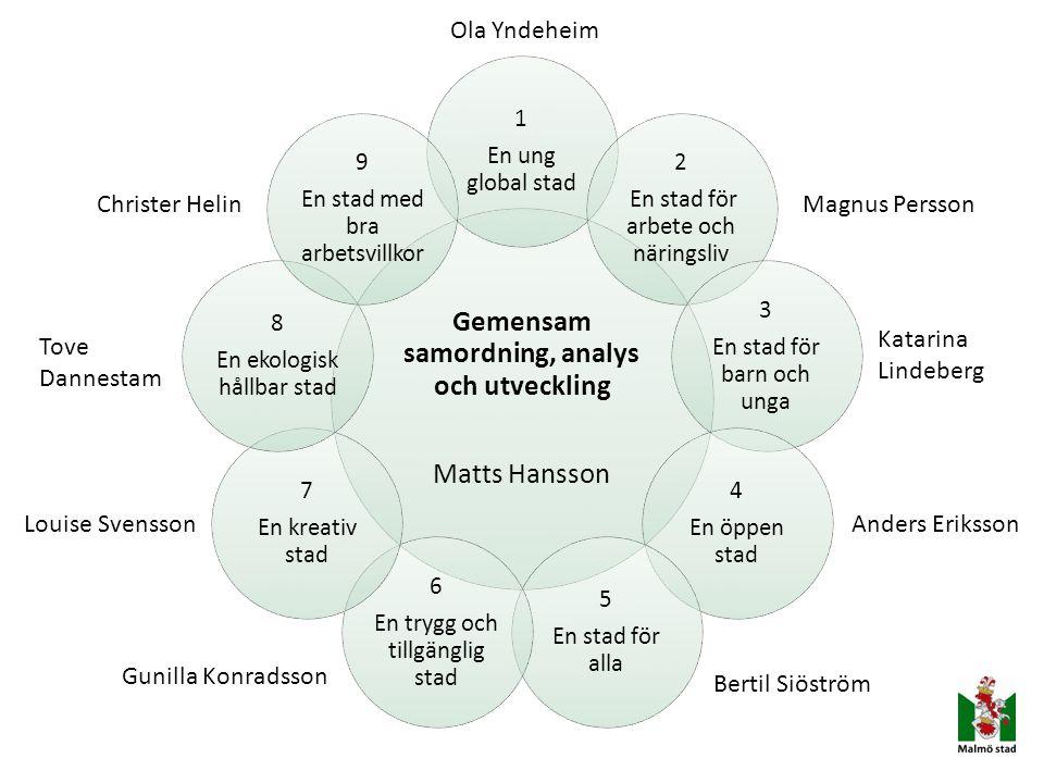 Gemensam samordning, analys och utveckling