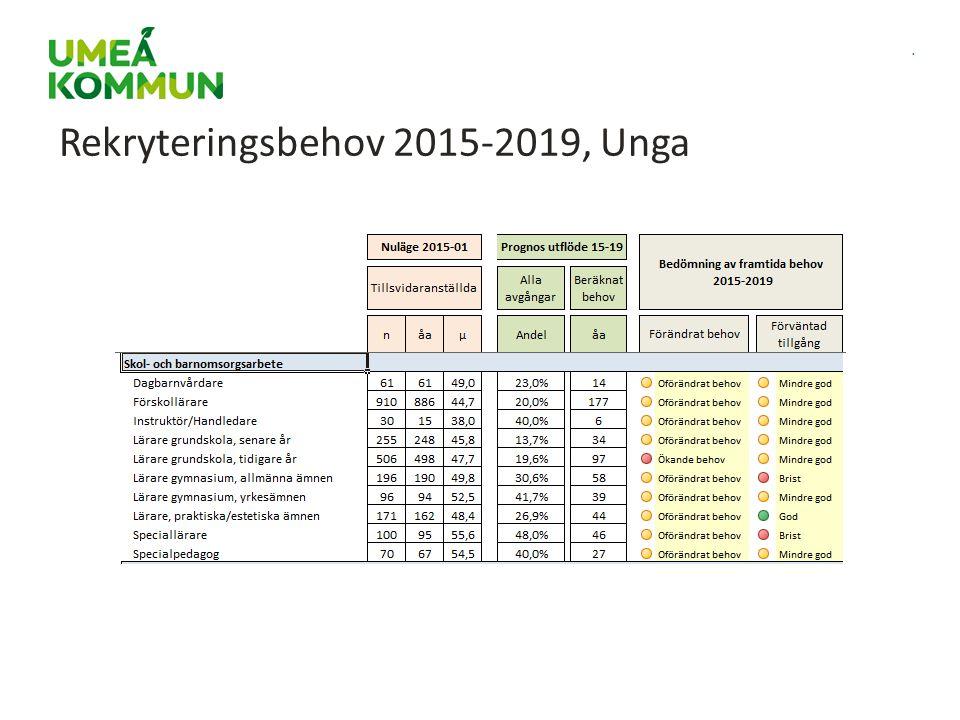 Rekryteringsbehov 2015-2019, Unga