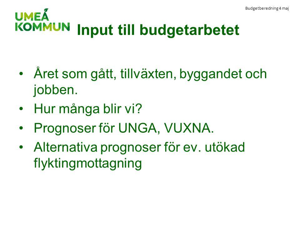 Input till budgetarbetet
