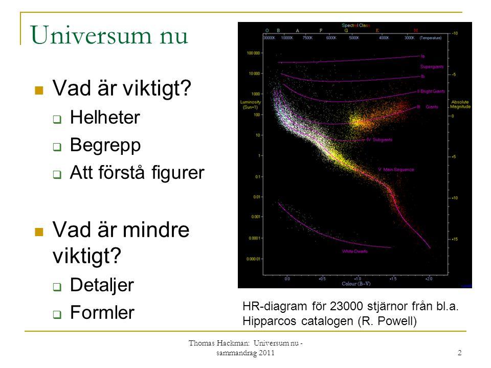 Thomas Hackman: Universum nu - sammandrag 2011