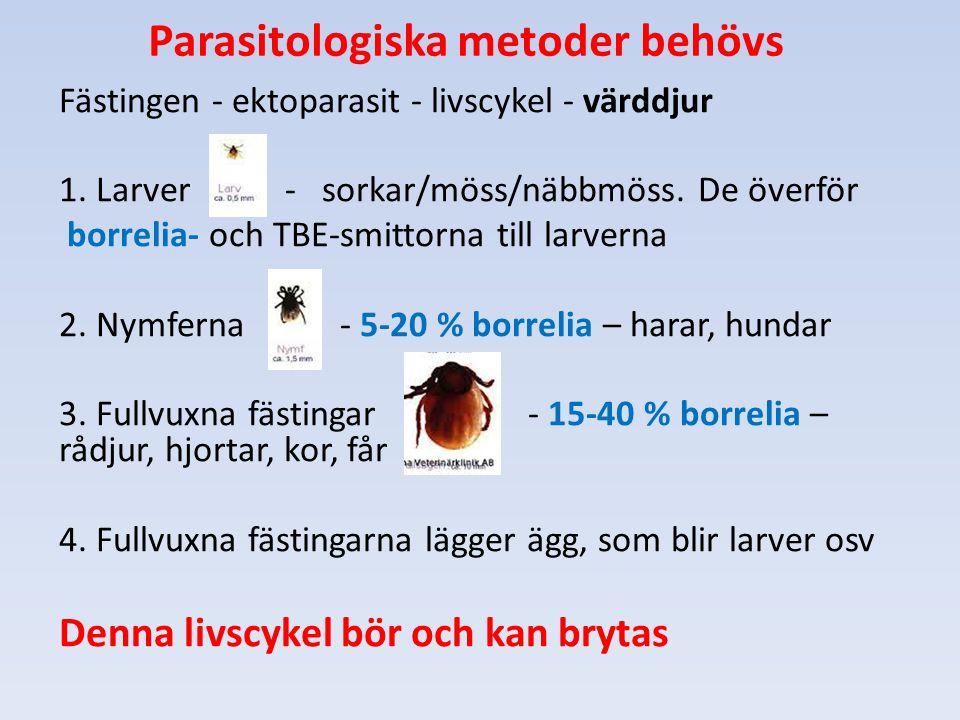 Parasitologiska metoder behövs