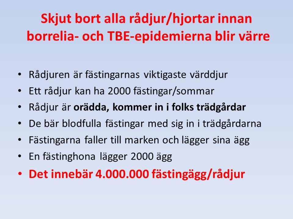 Skjut bort alla rådjur/hjortar innan borrelia- och TBE-epidemierna blir värre