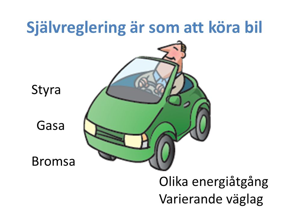 Självreglering är som att köra bil
