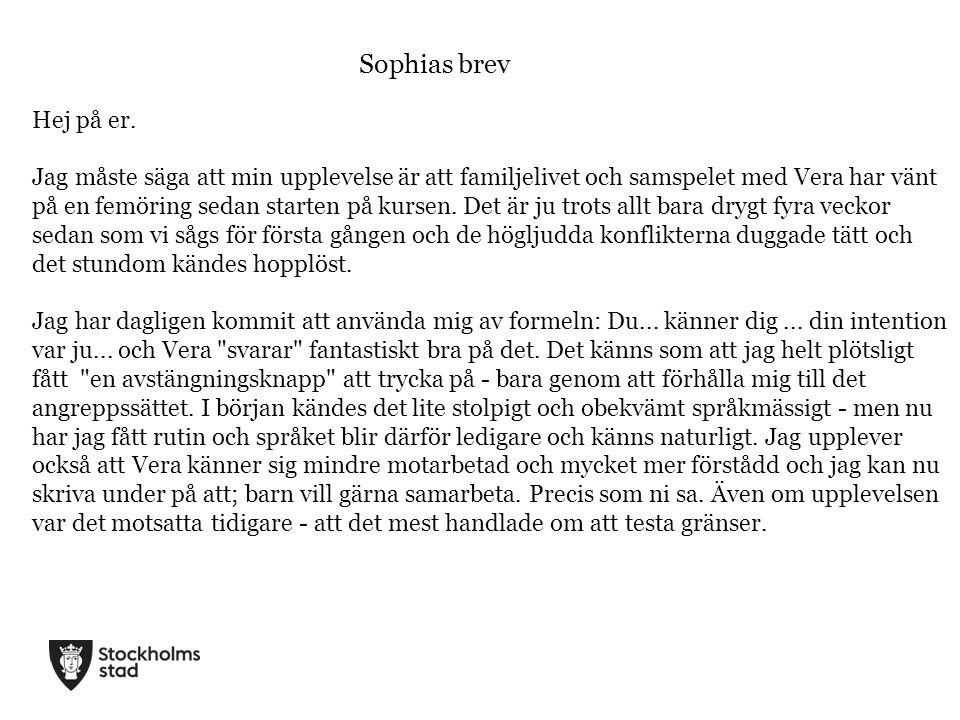 Sophias brev Hej på er.